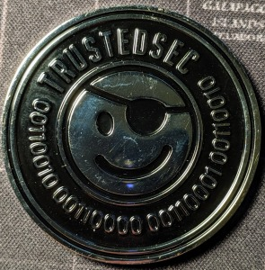 TrustedSec DerbyCon 9 Challenge Coin Back