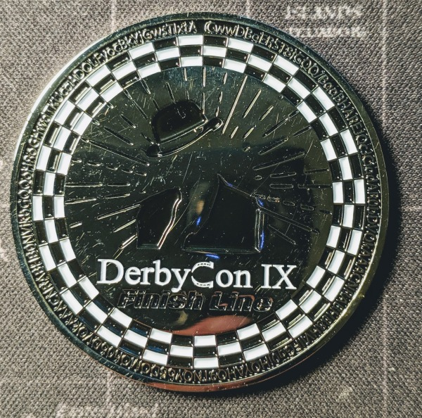 TrustedSec DerbyCon 9 Challenge Coin Front